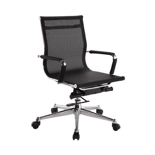 Low-Back Pantera Metal and Nylon Office Chair