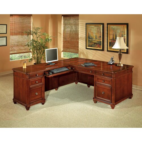 DMI Office Furniture Antigua Executive L-Shape Desk with Right Return