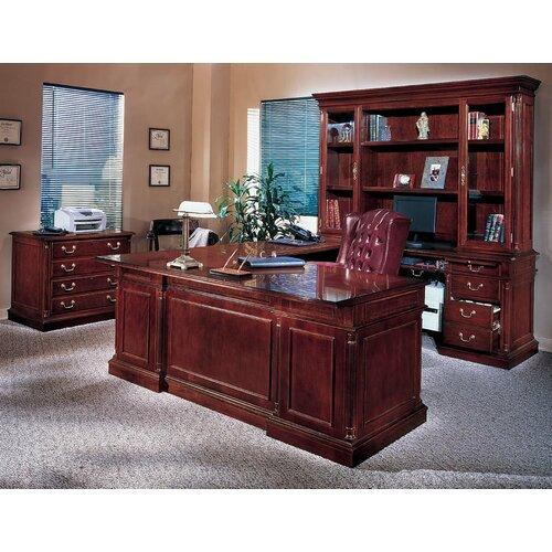 DMI Office Furniture Keswick 4-Piece U-Shape Executive Desk Office Suite