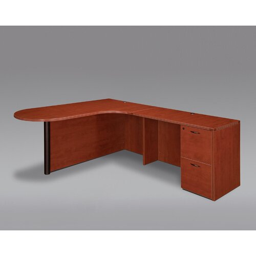 DMI Office Furniture Fairplex Corner Peninsula / Bullet L Desk