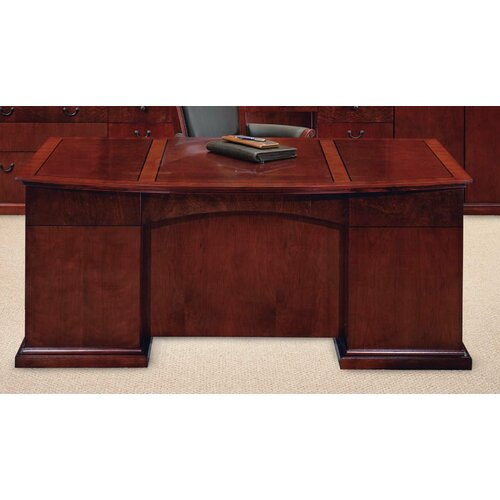 DMI Office Furniture Del Mar Executive Bow Front Desk
