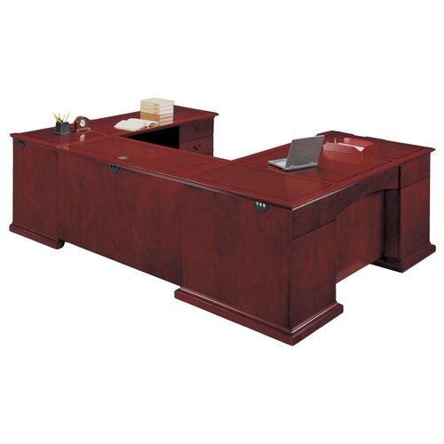 DMI Office Furniture Del Mar Executive U-Shape Desk with Right Return