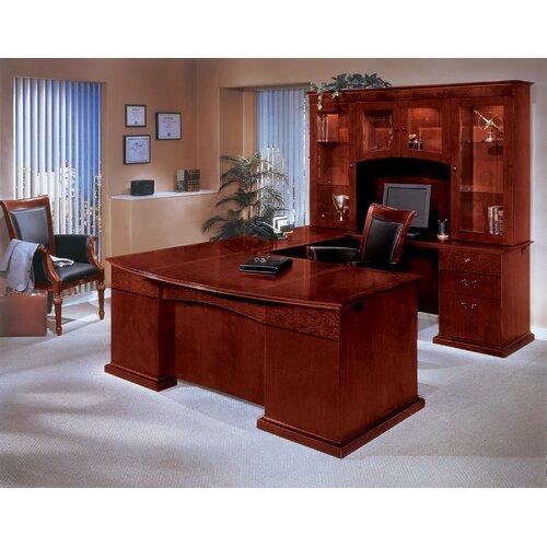 DMI Office Furniture Del Mar U-Shape Executice Desk with Hutch