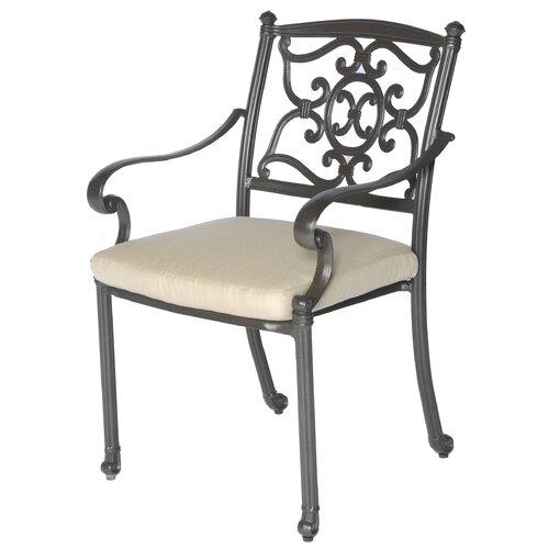 Meadow Decor Kingston Dining Arm Chair with Cushion