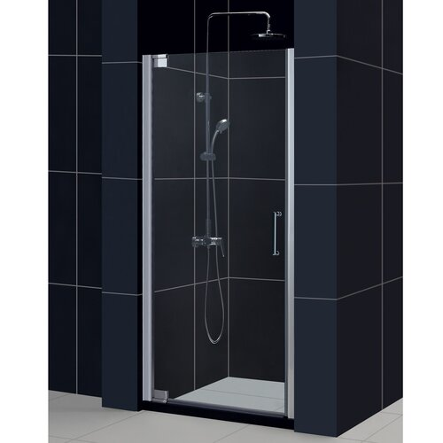 "Dreamline Elegance 25.25-27.25"" W x 72"" H Pivot Shower Door"