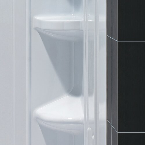 Dreamline SlimLine Quarter Round Floor  Shower Enclosure