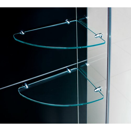 Dreamline Unidoor Frameless Hinged Shower Door with Glass Shelves