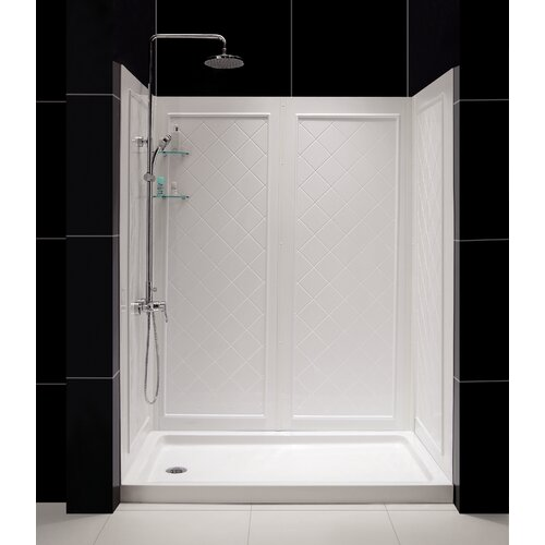 Dreamline QWALL-5 Shower Enclosure with SlimLine Shower Base