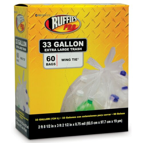 Berry 33 Gallon Extra Large Trash Bags in Clear (60 Count)