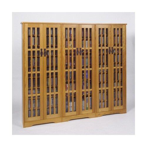 Leslie Dame Enterprises Glass Door High Capacity Multimedia Cabinet