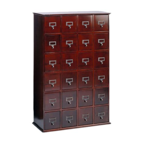 Leslie Dame Enterprises Library Style Multimedia Storage Cabinet