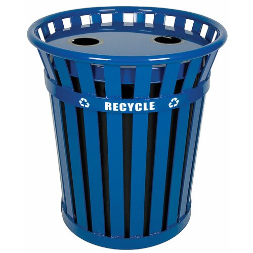 Witt Wydman Outdoor 36 Gallon Industrial Recycling Bin