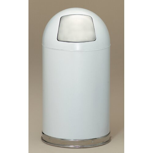 Witt Metal Series 12 Gallon Dome Top Trash Can in White