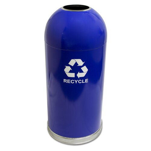 Witt Dome Top Metal Series Open 15 Gallon Industrial Recycling Bin