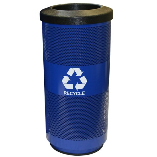 Witt Metal Recycling Perforated 20 Gallon Industrial Recycling Bin