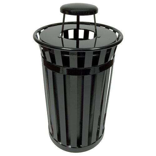 Witt Oakley Collection 24 Gallon Trash Receptacle with Rain Cap