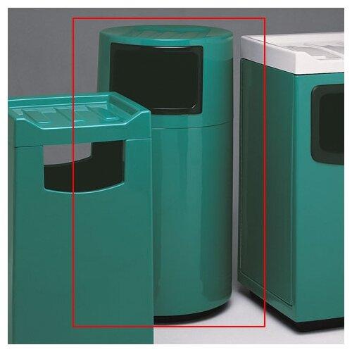 Witt Fiberglass Series 45 Gallon Round Food Court Receptacle