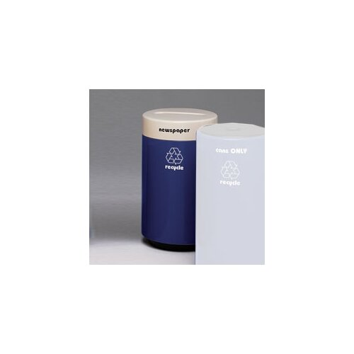 Witt Fiberglass Recycling 25 Gallon Glass Industrial Recycling Bin