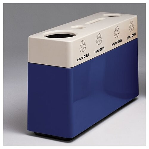 Witt Fiberglass Recycling Multi Compartment Recycling Bin