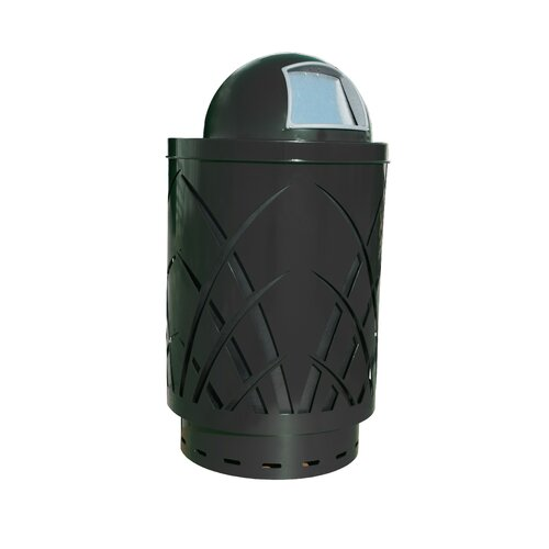 Witt Covington Sawgrass Laser Cut Metal Waste Receptacle with Dome Top-Push Door