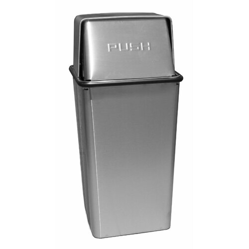 Witt Metal Series Wastewatchers 21 Gallon Stainless Steel Push Top Receptacle
