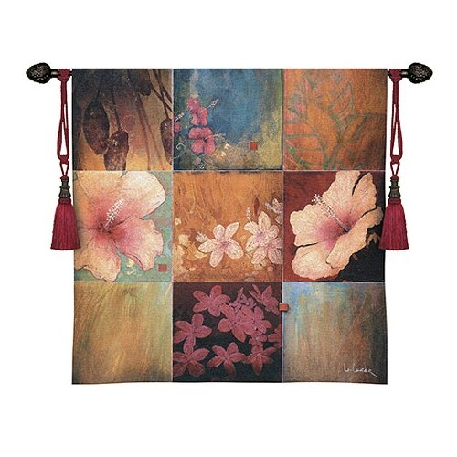 Fine Art Tapestries Abstract Tropical Nine Patch II by Don Li-Leger Tapestry