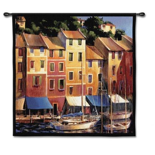 Fine Art Tapestries Portofino Waterfront Tapestry
