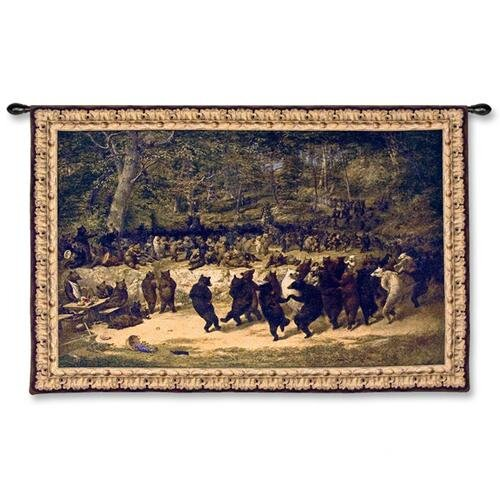 Fine Art Tapestries Bear Dance Tapestry