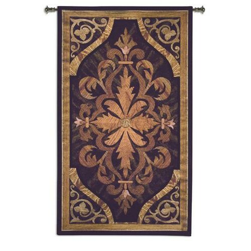 Fine Art Tapestries Wood Inlay Teak BW Tapestry