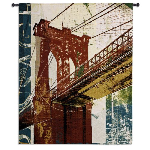 Fine Art Tapestries Into Manhattan II Tapestry