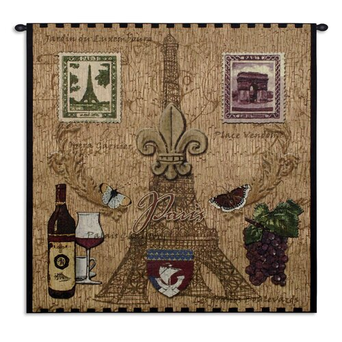 Fine Art Tapestries Paris with Love Tapestry