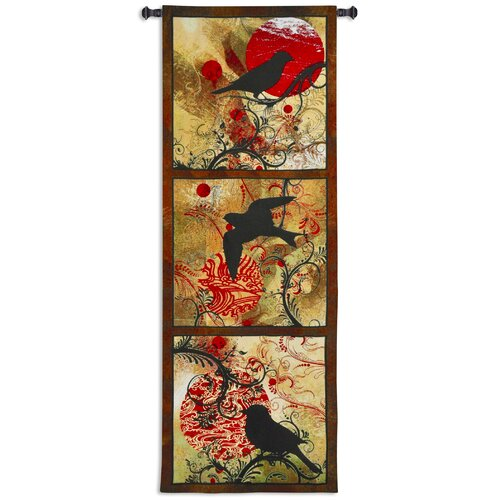 Fine Art Tapestries Autumn's Perch by Brad Simpson Tapestry