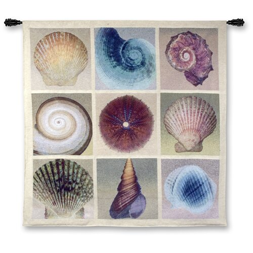 Fine Art Tapestries Abstract Shell Collection by Mertens Tapestry