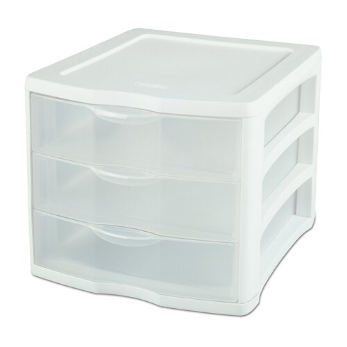 Sterilite 3 Drawer ClearView™ Storage Organizer