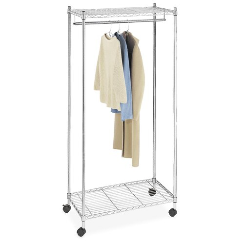 "Whitmor, Inc Supreme 70.25"" H x 36"" W x 18"" D Garment Rack"