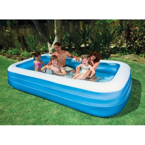"Intex Rectangle 22"" Deep Swim Center Family Pool"