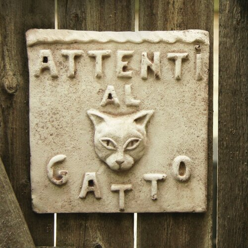 Animals Beware of Cat Plaque Wall Decor