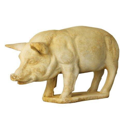 OrlandiStatuary Animals Pig on Base Garden Statue