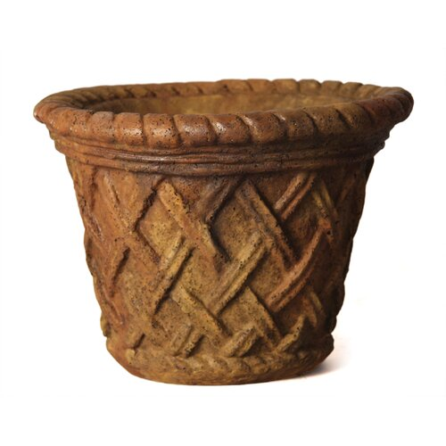 Small Lattice Round Pot Planter