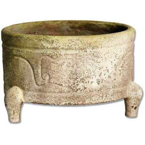 OrlandiStatuary Legged Chinese Bowl Planter