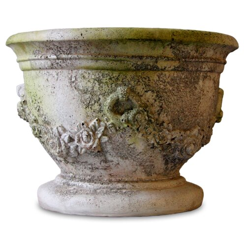 OrlandiStatuary Garland and Ring Round Bowl Planter
