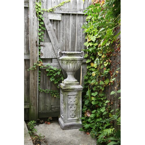 OrlandiStatuary Fluted and Beaded Urn Planter