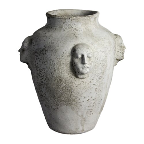 OrlandiStatuary Planter Four Face Round Pot