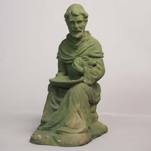 OrlandiStatuary Religious Sitting Saint Francis with Rabbit Statue