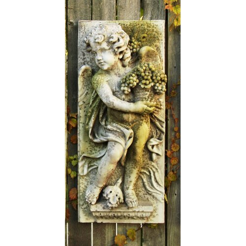 OrlandiStatuary Little Boy Summer Plaque Wall Decor