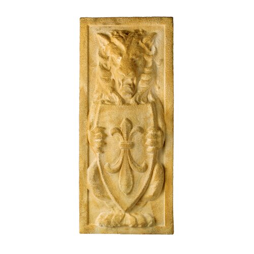 OrlandiStatuary Lion Crest Plaque Wall Decor