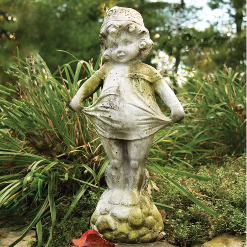 Children Little Sister Outdoor Statue