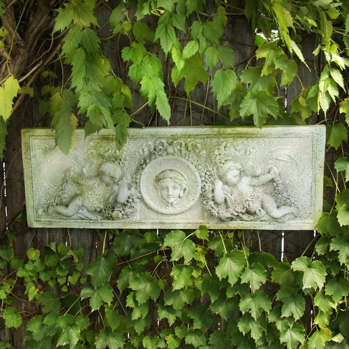 OrlandiStatuary Cherub Victorian Plaque Wall Decor