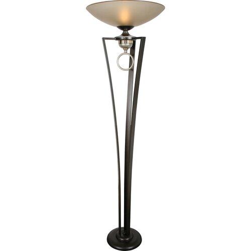 Serenade In Love 1 Light Torchiere Floor Lamp Wayfair