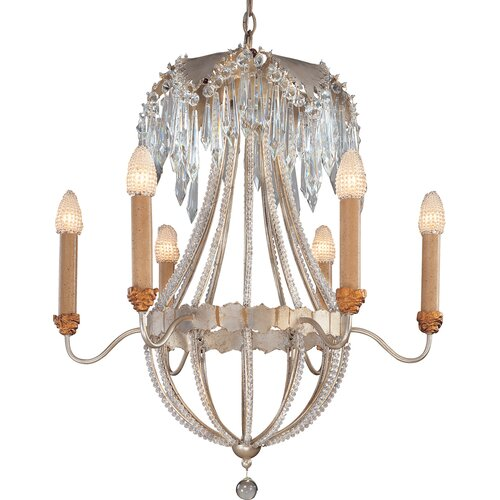 Flambeau Lighting Louis 6 Light Chandelier
